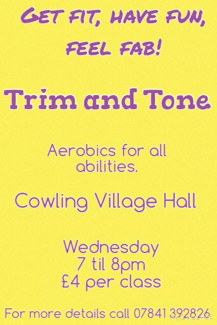 Trim & Tone with Gina @ Cowling Village Hall